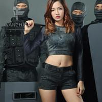 Wholesale Women Camo Pants Skinny - Tactical Camouflage Shorts for Women Patrol Camo Hot Pants Hunting Training Equipment
