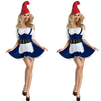 Wholesale Lady Sexy Santa - New Sexy Girls' Christmas Costumes Adult Christmas Clothes Beer Girl Costumes Apparel Blue Maid Game Uniforms Lady