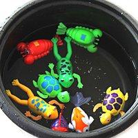 Wholesale Wind Up Christmas Toys - Wholesale- Baby Paddle Wash Bath Bathing Toy Wind-up Animals Toys Christmas Gift for 8PYR