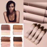 Wholesale Whitening Kit Light - KKW BEAUTY Highlighters sticks contours Stick contours brush Cream Contour Kim Kardashian Creme Contour Kit LIGHT MEDIUM DARK DEEP DARK