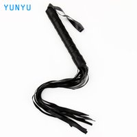 Wholesale Toy Sex Games For Pc - Leather Spanking Paddle Fetish Whip Flogger Sex Toys for Couples Sexy Policy Knout Adult Games 1 Pcs 17403