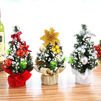 Wholesale Pine Tree Home Decor - Beauty Mini Christmas Trees Xmas Decorations A Small Pine Tree Placed In The Desktop Festival Home Party Decor Ornaments