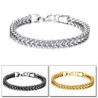 Wholesale Black Square Rings For Men - hot sale bracelet jewelry Square fish scale anti rust titanium steel link fashion bracelets for men