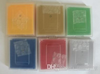 Wholesale Crystal Language - Mix 7 Game Free Shipping via DHL EMS English language pok game cartridges games green yellow red silver gold blue Crystal