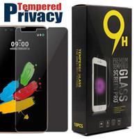 ingrosso lg stilo-Privacy Vetro temperato per LG K10 K7 Pellicola proteggi schermo anti-esplosione per LG Stylus 2 K8 Huawei P9 Samsung ON5 con 10pcs in scatola al minuto