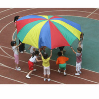 Wholesale Parachutes For Kids - 8 Handle 2m Kid Toy Rainbow Parachute Multicolor Nylon Suitable For 4-8 Individual Outdoor Fun Sport Development Cooperation