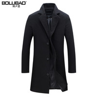 Wholesale Casual Suit Designs For Men - Wholesale- 2016 New Arrival Wool Blend Suit Design Wool Coat Men's Casual Trench Coat Design Slim Fit Office Suit Jackets Coat For Men