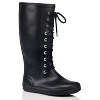 Wholesale Lace Up Rain Boots Women - Wholesale-New Women Men's Fashion Rubber Lace-up Rain Boots Flat Heels Anti-slip Rainboots Woman Waterproof Water Shoes Plus Size #TS21