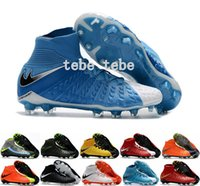 Wholesale Soccer Shoes Genuine - Hypervenom Phantom III 3 DF FG Football Boots Hypervenom Phantom III Soccer Shoes Soccer Boots Outdoor Football Cleats Shoes 39-45