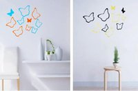 Wholesale Butterfly Bedding 3d - 3D Creative Removable butterfly wall sticker for child room  living room  bed room decoration 6pcs factory price free shipping