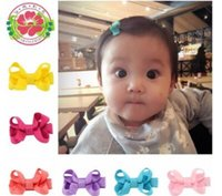 Wholesale Japan Korea China Wholesale - Children bowknot hairpin Han edition girls hair accessories Pure color edge clip accessories Japan and South Korea credit card