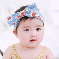 Wholesale Wholesale Owl Accessories Kids - Baby Headbands with Big Bows Girls Kids Cute Bowknot Floral Printing Owl Pattern Hairbands Head Bands Children Hair Accessories KHA164