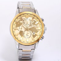 Wholesale Watches For Women Stopwatch - All Subdials Work AAA Mens women Watches Stainless Quartz Wristwatches Stopwatch Luxury Watch Top Brand relogies for men relojes Best Gift