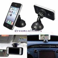 telefon auto magnethalter großhandel-Universal Magnet Magnetische Auto Armaturenbrett Halterung Handyhalter Windschutzscheibe Saugnapf Halterung Ständer Halter für iPhone Samsung LG Handy GPS