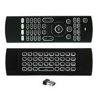 Wholesale Tv Oem Android - MX3 Air Mouse Backlight MX3 Wireless Keyboard 2.4G IR Learning Fly Air Mouse Backlit For Android TV Box