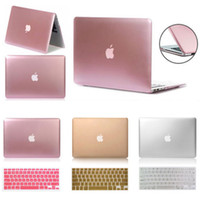 Wholesale Metallic Laptop - Metallic Rubberized Hard Case Keyboard Cover fo Macbook Pro 13 15 Air 13 11 Inch