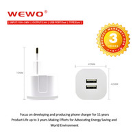 Wholesale Dual Usb Phone Charger - WEWO Cell Phone Charger Dual USB 2.4A Power Travel Adapter Wall Charger 2 Port for MP3 MP4 i9500 HTC SAMSUNG