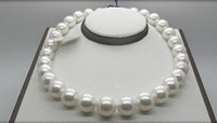 Wholesale South Sea Pearls White - Fine pearls chain huge gorgeous AAA15-16MM SOUTH SEA ROUND WHITE PEARL NECKLACE 18INCH 14K
