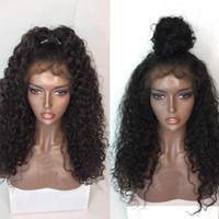 Wholesale top quality human hair curly wigs for sale - Group buy 9A Curly Human Hair Wigs With Baby Hair Brazilian Virgin Lace Front Wig For Black Women Top Quality Full Lace Wigs Bleached Knots