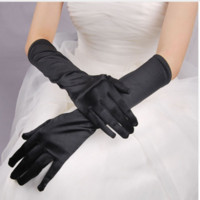 guantes de brazo negro al por mayor-2017 Nueva Venta Caliente Multi-Colores blanco negro Costume Gloves Opera Arm Guantes Largos de Satén Guantes de Boda Fomal Ladies Lingerie party Evening