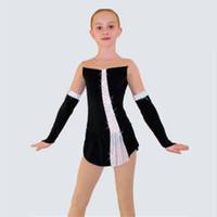 Wholesale Dresses For Ice Skating - 2017 Girls Custom Figure Skating Dress New Brand Women Ice Skating Dresses For Competition Full Sleeve