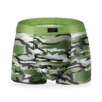 Wholesale Camouflage Boxers - Mens Underwear Plus Size Men's Boxer Shorts Fashion Breathable Modal Boxer Tide men Soldier Camouflage underwear