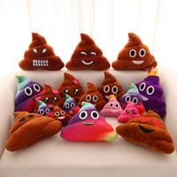 decoracion de almohadas al por mayor-Divertido Emoji Almohada Cute Shits Poop Cojín Qush Expresión de Peluche de Juguete Refuerzo Creativo Almohadas Para El Hogar Decorar Regalos 4xx KK