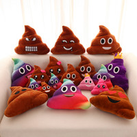 Wholesale emoji pillows resale online - Funny Emoji Pillow Cute Shits Poop Stuffed Toy Cushion QQ Expression Plush Bolster Creative Pillows For Home Decorate Gifts xx KK