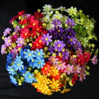 Wholesale home decorate flowers - Simulation bouquets of flowers to decorate the Daisy flowers for the wedding the bride bouquet home decorative flower IC619