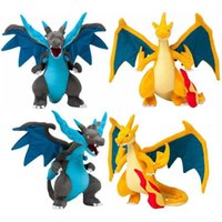 Compra Collezione Anime Stuffed Toys-Animale farcito Anime Charizard Giocattoli Baby Poke Dragonite Peluche Giocattoli Mega Evolution Charizard Dragon Dolls Regali 2 Color Collection Display