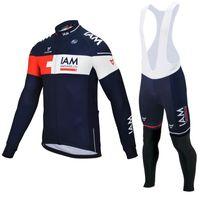 Wholesale iam cycling for sale - 2 Colors IAM Team Men s Cycling Jerseys Set Winter Thermal Fleece Bicycle Clothing Mens Bicycle Clothing Bike Clothes Bike Jersey