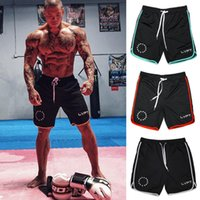 Wholesale Nylon Gym Shorts - Mens summer style gyms fitness bodybuilding shorts Sporting Fashion leisure Quick dry Breathable Cool Brand short Trousers