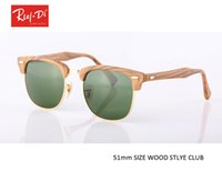 Wholesale Sunglasses Reflective Mirror - Luxury half Rimless Sunglasses Women Original Brand Designer Sun glasses Mirror wood sytle Eyewear reflective Lens lunette de soleil femme
