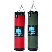 Wholesale Taekwondo Bags - 100cm Empty Punching Bag with Chain Martial Art kick Boxing Punching Bag Hollow Taekwondo Boxing Training Fitness Sandbag +B