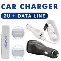 Wholesale Uk Cellphone Chargers - Wholesale Cellphone Original Quality Car Charger For Samsung S6 Power Banks US UK EU Quick Dual USB Phone Car Chargers