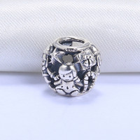 Wholesale Girl Beads European - Wholesale Real 925 Sterling Silver Not Plated Elf Girl European Charms Beads Fit Pandora Snake Chain Bracelet DIY Jewelry