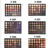 Wholesale Eyeshadow Palette Style - Eyeshadow Mor 35 color Eyeshadow Natural Matte Palette 35OM 35OS 35O 35A 35B 35C 35D 35F 35N 35W 35T 35P 12 Style vs Kylie Shadow