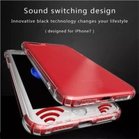 Wholesale Cushion Speakers - For Samsung s8 s8 plus Clear Case Air Cushion Anti-shock Soft TPU Cases Stereo Sound Speaker Switching Cover For iPhone 8 7 plus 6 6s plus