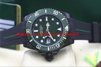 зеленая рамка автоматическая оптовых-Мода роскошные наручные часы резиновый браслет PVD покрытие 116610 Зеленая керамическая рамка / циферблат 40 мм автоматические механические мужские часы новое прибытие