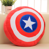 Wholesale Captain America Shield Pillow - 35CM The Avengers 2 Captain America Shield Pillow Plush Toy Soft Stuffed Toy Doll Christmas Gift Kids Children Gift
