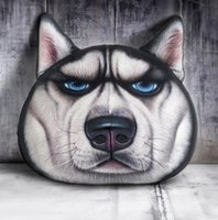 Wholesale Animal Cushion Covers - 3D Animal Pillow Case Cats Dog Head Pillow Cover Meow Star Dog Cushion Cases Cat Face Pillowcases Home Sofa Car Decor 40*38CM KKA2307