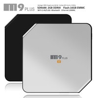 Wholesale Android Tv Box M9 - S905 4K Streaming Android TV Box M9 Plus 2GB 16GB Quad Core 5.1 OS BT4.0 Dual Band Kdi fully loaded LED display