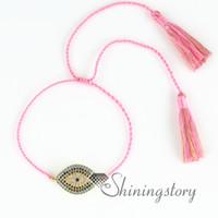 Wholesale Greek Eye Bracelets - beaded bracelets with tassels eye jewelry turkish eye bracelet greek evil eye jewelry hamsa charm bracelet