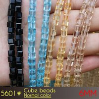 Wholesale Sports Jewerly - Cube Beads 6mm Normal color A5601 100pcs set seed beads czech republic glass beads for jewerly making
