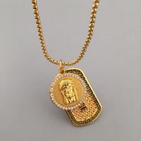 Wholesale Trendy Necklaces For Men - Famous Brand Design Medusa Pendant Necklaces For Men Top Quality Trendy Hip Hop Chains Luxury Hiphop Jewelry Gold Plated Wholesale