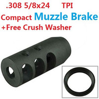 Hot Sell AR15 308 5 8X24 Thread Steel Magnesium Phosphate Finished Muzzle Device Brake Break