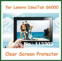 """Wholesale camera for lenovo - Wholesale- 5pcs Clear Screen Protector Protective Film with Camera Hole for 10.1"""" Lenovo IdeaTab S6000 Tablet PC No Retail Package"""