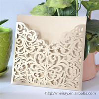 Wholesale Invitation Card Pocket - Wholesale-2015 wedding invitation card,laser cut wedding invitations pocket, pocket card invitations, wedding pocket invitaitons