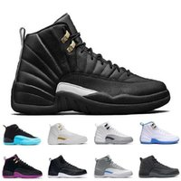 Wholesale Mens Pu Leather - High quality air retro 12 12s Mens Womens Basketball Shoes ovo white TAXI Flu Game GS Barons Playoffs gym red French blue retro shoes