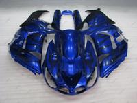 ingrosso zx14 carenatura nero-Carrozzeria ZZ-R1400 2006 Carene in plastica ZZR 1400 06 07 Blue Black Flame Fairing Kit Zx14 Zx-14r 2009 2006 - 2011